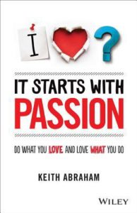 Image retrieved from GoodReads. It starts with passion