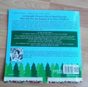 Back cover of the paperback book why does mommy hurt.